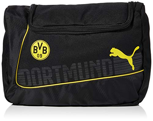 PUMA Kulturbeutel BVB EvoPower Wash Bag, Cyber Yellow/Black, 19.5 x 21.8 x 20.5 cm, 6.5 Liter, 073917 01