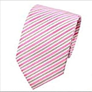 Stripe necktie set Business formal Marriage School Tie Clip Cufflinks Necktie Set for Male,pink