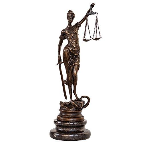 aubaho Bronzeskulptur Justitia Justizia Bronze Figur Skulptur im Antik-Stil - 24cm