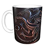 Juego de Tronos fuego y sangre, divertida taza de café, taza de té, regalo de cumpleaños único para hombres y mujeres, 11...