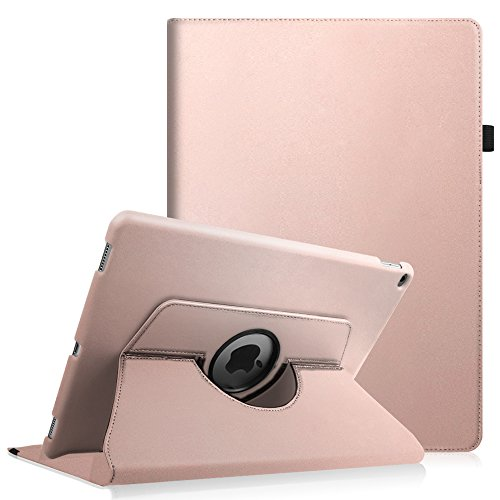 Fintie Case for iPad Pro 12.9 (1st Gen 2015) - 360 Degree Rotating Stand Case with Smart Protective Cover Auto Sleep/Wake Feature for 12.9-inch iPad Pro (2015 Version), Rose Gold
