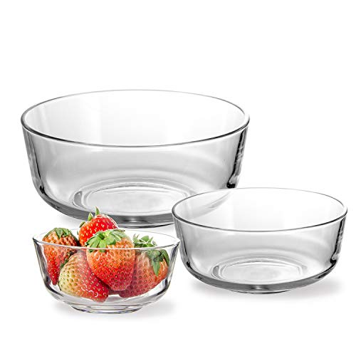 Glass Mixing Bowls Stackable Bowl Set