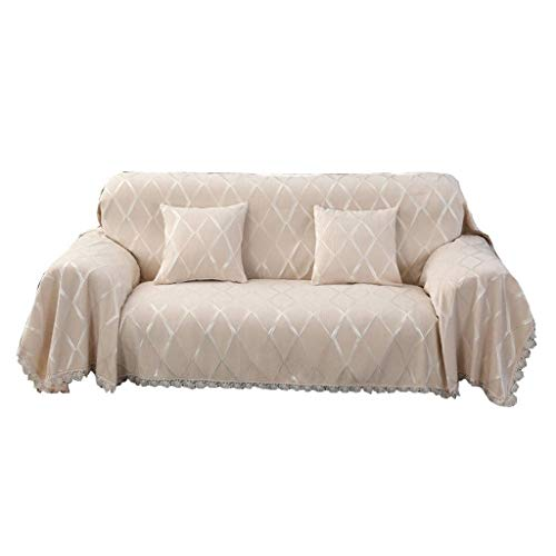 LLKK Funda de sofá de Jacquard Gruesa,cojín de sofá con Todo Incluido,Toalla de sofá de Chenilla,Funda Antideslizante,Funda Universal Antideslizante para sofá