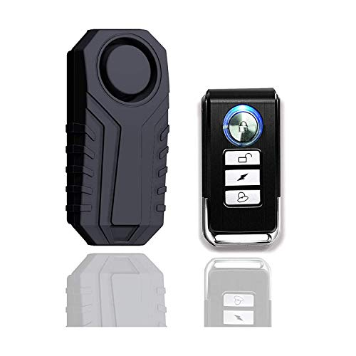 KINOEE Bicycle Alarm, Anti-Theft Burglar Wireless Alarm with Remote Control...