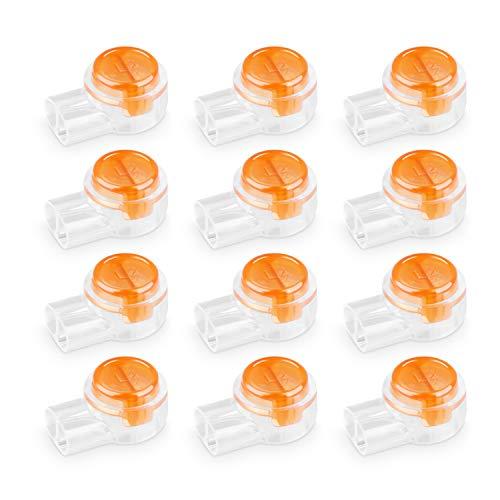 Conectores de cable K1 de 180 piezas, conector de empalme a tope, conectores de empalme a tope UY a prueba de agua para 2 hilos