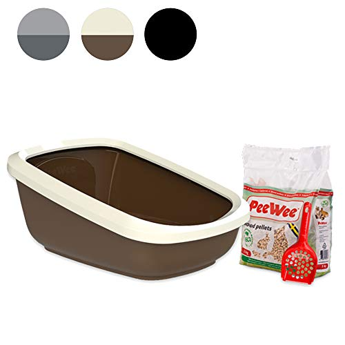 PeeWee EcoGranda - Katzentoilette - Starter-Paket Braun