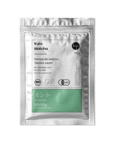 Matcha Minto – Premium Bio-Matcha-Tee aus Japan – Extrafeines Grüntee-Pulver von Kuro – Bio-zertifiziert nach DE-ÖKO-006 (100g)