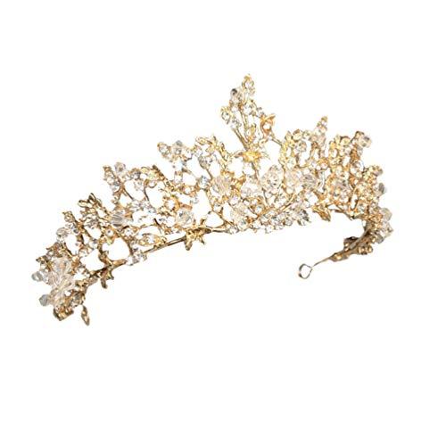 Lurrose Noiva Casamento Coroa Casamento Cabeça Vestido Acessórios para O Cabelo Coroa Com Contas Crianças Aniversário Fada Cabelo Coroa Jóias Acessórios para O Cabelo
