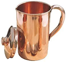 Wonder Care- 100% Copper Drinkware Water Storage Ayurvedic Health Benefits Leak Proof -Drink More Water for Fitness