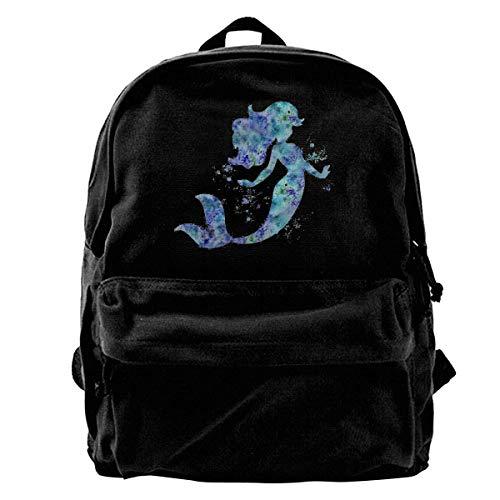 Zaini Casual, Zaini per PC portatili, Canvas Backpack Shrimp Raising Unique Print Style,Fits 14 Inch Laptop,Durable,Black