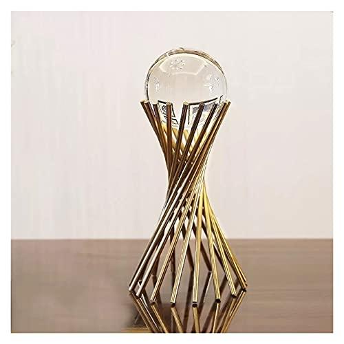OUMIFA Bola de Cristal Cristal Cristal Cristal Cabeza DE Vino DE Vino Modelo Modelo MODERO Inicio LUZ Moderna Nuevo Decoración de Lujo Habitación China Oficina de Metal Bolas Decorativas (Color : C)