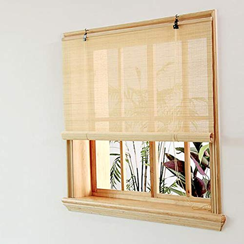 Lowest Price! Bamboo Blinds, Sunshade Sunscreen, Anti-Mosquito and UV Protection, Indoor partition D...