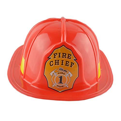 FLAMEER Feuerwehrhelm Erwachsene Feuerwehr Kostüm Feuerwehrmann Herren Party Cap Hut Schutzhelm Halloween Verkleidung Fasching Feuerwehr Karneval