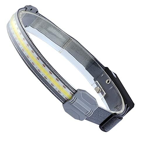 Wide Beam Led Headlamp, Linterna Cabeza Led Recargable Alta Potenciam, Linterna Led Recargable Cabeza, LáMpara de Cabeza Manos Libres para Acampar, Pescar, Correr