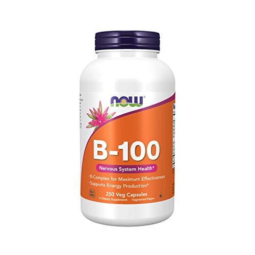Now Foods B-100 Vitamin-B-Komplex Stoffwechsel - 250 Kapseln