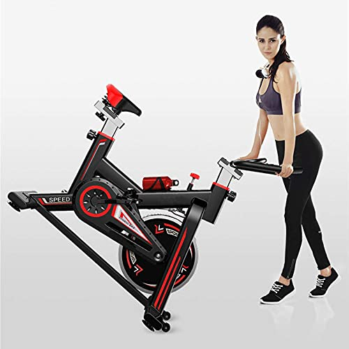 FGVBC Cyclette, Cyclette Indoor, Bici da Spinning, Bicicletta Cardio per dimagrire e Allenamento Cardio, con Sedile e Manubrio Regolabili e Monitor LCD e Tazza dell'Acqua