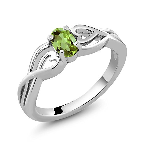 0.57 Ct Green 925 Yellow Gold Plated Silver Ring Made With Swarovski Zirconia