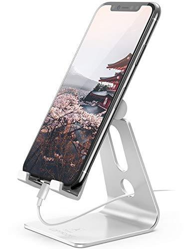 Lomicall スマホ スタンド ホルダー 角度調整可能, 携帯電話卓上スタンド : スマートフォン 充電スタンド, ...