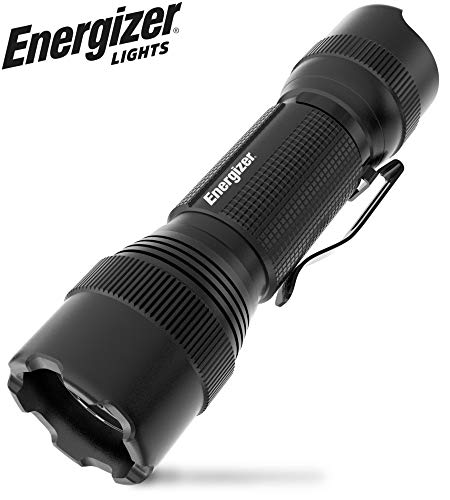 Energizer LED Tactical Flashlight, 700 High Lumens, IPX4 Water Resistant, Aircraft Grade Metal Flash Light, Best Camping, Outdoor, Emergency, Everyday Flashlights, Batteries Included
