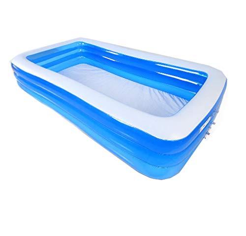 BYCDD Aufblasbare Badewanne Erwachsene FüR Dusche, Tragbar Faltbare Dauerhaft Reise Becken Dusche PVC Badewannensitz mit bequemer elektrischer Luftpumpe,Blue_260X160X60CM