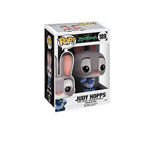 CJH Zootopia – Judy Hopps: Pop!Pop!Pop!Pop.und Cartoon mooie pvc-figuur met decor, beste collectie voor de grootte van de ventilator, Zootopia: 10 cm