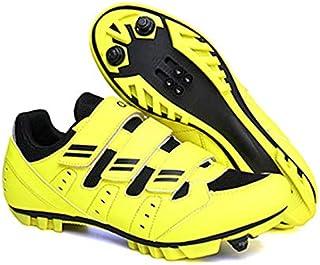 Chaussures de vélo avec crampons SPD pour homme - Pédales compatibles avec respirant et confortable - Chaussures de vélo a...