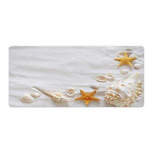 Sea Shell Sand Beach Starfish Desktop and Laptop Mouse pad 1 Pack 800x400x3mm/31.5x15.7x1.1 in