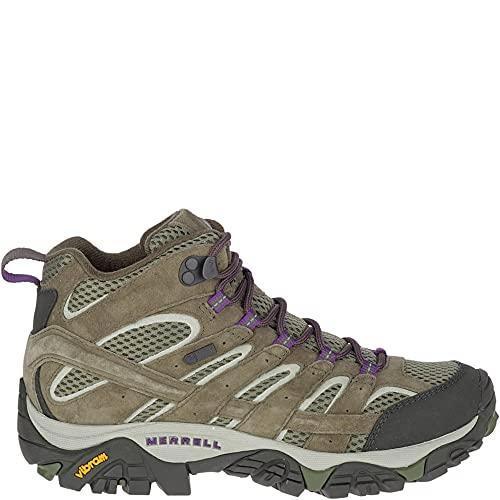 Merrell Women's Moab 2 Mid Waterproof Hiking Boot, Olive, 9 M US