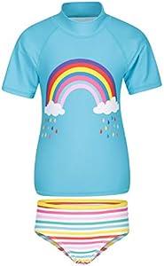 Mountain Warehouse Camiseta Estampada para niños - Protección UV - Camiseta de Playa elástica para niños y niñas - Ligera - Ideal para Verano, natación y Submarinismo Amarillo 3-4 Años