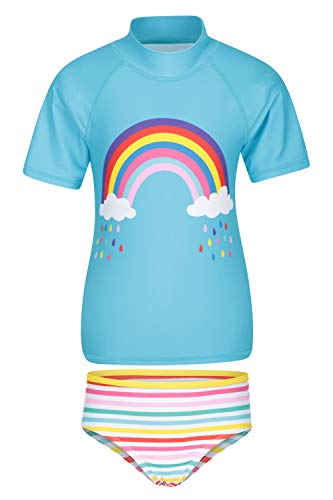 Mountain Warehouse Camiseta Estampada para niños - Protección UV - Camiseta de Playa elástica para niños y niñas - Ligera - Ideal para Verano, natación y Submarinismo Amarillo 5-6 Años