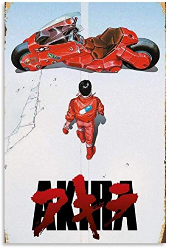 ZRRTTG Lienzo Pintura Al óLeo 60x90cm Sala de Estar Decorativa de la película Akira Poster Y Estampados Arte Cuadros Sin Marco
