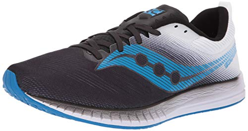 Saucony Men's Fastwitch 9 Road Running Shoe, Black/White, 10.5 M US
