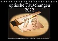 optische Taeuschungen 2022 (Tischkalender 2022 DIN A5 quer): anamorphose Zeichnungen in surrealen Fotomontagen (Monatskalender, 14 Seiten )