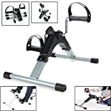 Coldshine Folding Mini LCD Exercise Bike Portable Arm Home Pedal Exerciser Gym Fitness Leg Cardio Training Adjustable Resistance Cycle Pedal Exerciser for Women and Men