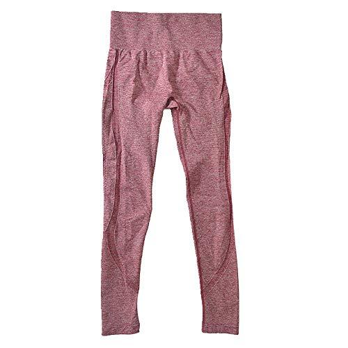 N\P Pantalones de yoga sin costuras corriendo polainas de fitness de levantamiento de cadera pantalones deportivos