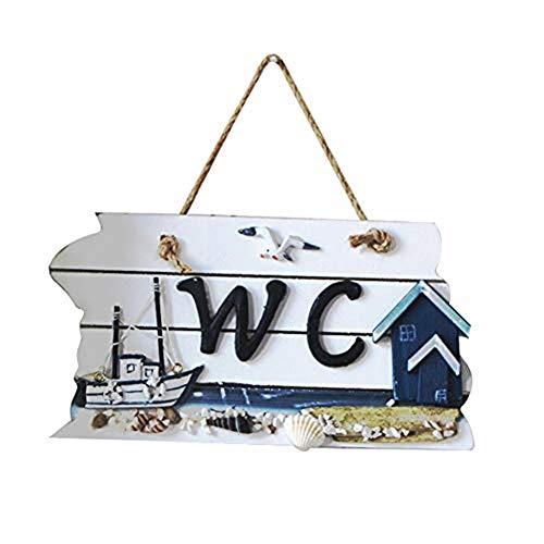 Wicemoon Baño Wc Lista Indicación Para Inodoro Puerta Wc Placa Cartel de...
