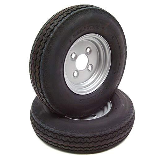 D+L GmbH 2 Kompletträder Anhängerrad Reifen 4.00-8 + FELGE 60mm AWZ Nabengröße Anhängerräder