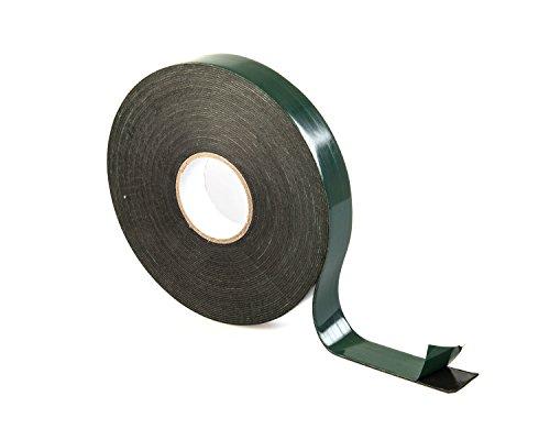"Rollo de cinta de espuma de doble cara de Gocableties, 10m x 19mm (3/4\""), alta calidad, negro"