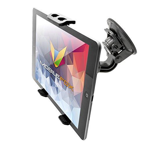 MOBILEFOX Auto Tablet Halterung KFZ Scheiben Saugnapf Halter Auto PKW für Apple iPad Pro Air