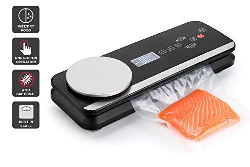 Macchina sottovuoto sigillatrice per alimenti automatica con bilancia da cucina digitale