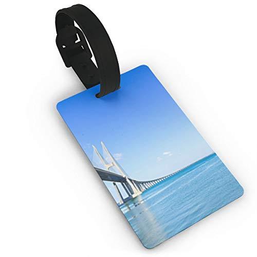 Nicokee Luggage ID Tags Vasco Da Gama Bridge On Tagus River Europe Assorted Travel Suitcase Labels Business ID Card Holder