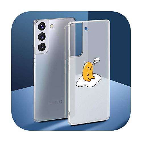 Gudetama - Funda para Samsung Galaxy S20 FE S9 S10 Plus S21 Ultra S8 S7 Edge Silicona Mate Cover - S06-para Samsung S9 Plus
