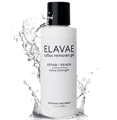Elavae Callus Remover Gel Extra Strength. Works well with foot scrubber, file, pumice stone and other favorite pedicure tools. Achieve foot spa professional results in minutes!