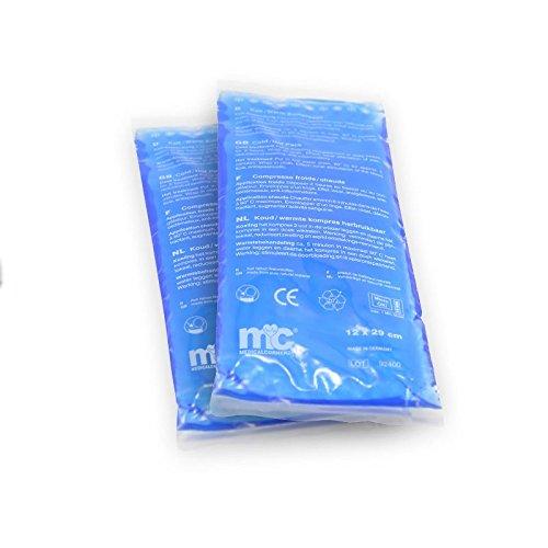 2x Kalt-Warm-Kompressen, 12 x 29 cm, Gelkompresse, Kühlkissen, Kältekissen, Kaltkompressen, Warmkompresse
