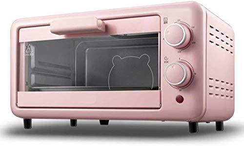 Tostadora horno eléctrico horno pequeño horno eléctrico horno para hornear mini horno eléctrico 11l tostadora rosa horno cocina electrodomésticos 800w Pequeño pan horneado hornear hornos