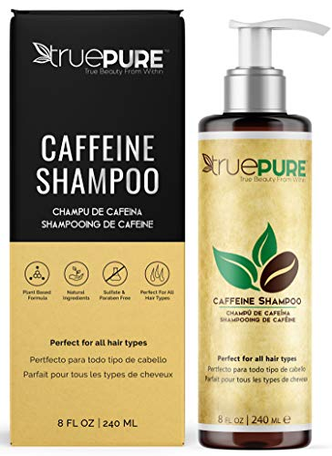 TruePure Natural Caffeine Shampoo, Treatment Contains No Sulfates or Fragrance For Healthy Hair...