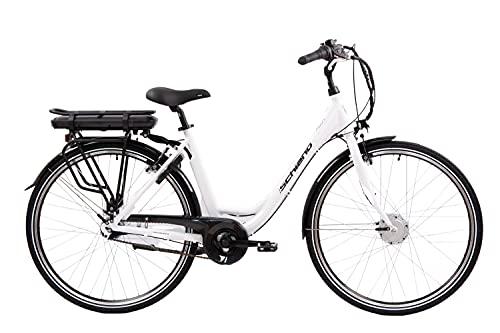 F.lli Schiano Women\'s E-Moon E-Bike, Weiss, 49cm