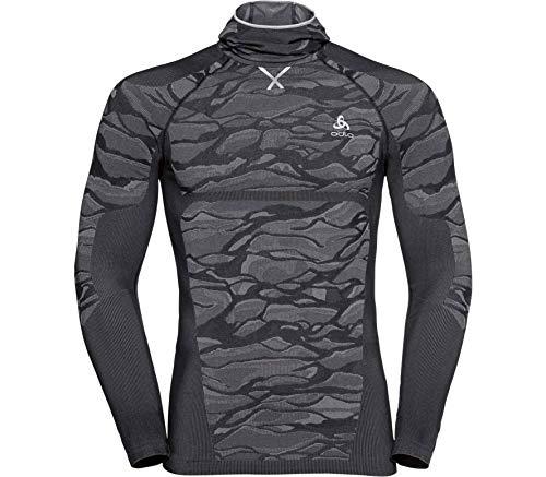 Odlo BL Blackcomb T-Shirt à Manches Longues pour Homme Noir/Gris/argenté Taille M