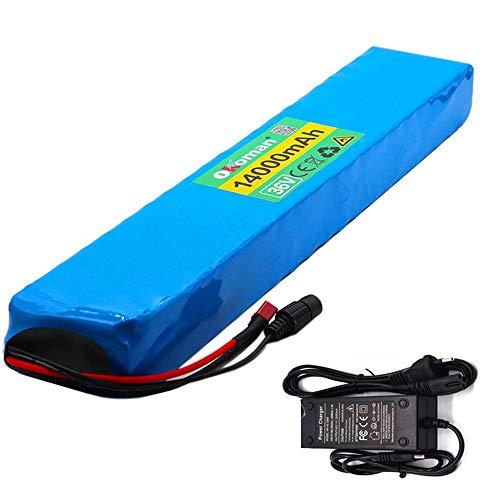 36v E-Bike Lithium-ionen Akku 10s4p 14ah Batterie Pack 500w 18650 High Power Batterie 42v 14000mah Ebike Elektrische Fahrrad BMS + 42v Ladegerät