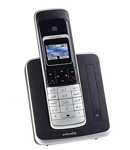 Swissvoice Eurit 459 Colour Schnurloses ISDN Telefon mit graphischem hintergrundbeleuchtetem Farbdisplay (DECT, FullECO)